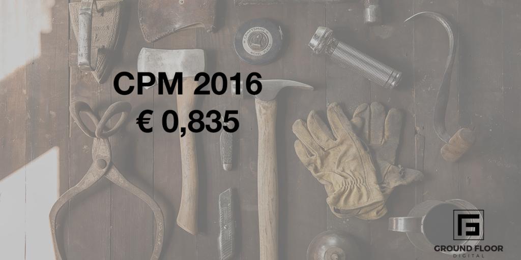 CPM CTR Facebook 2016 Latvija